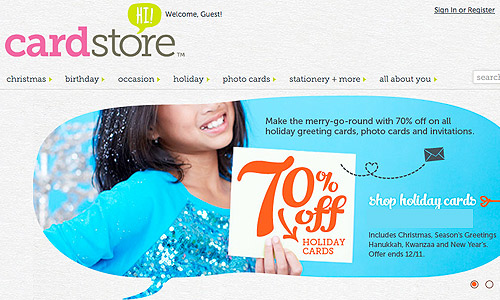 card store coupon code