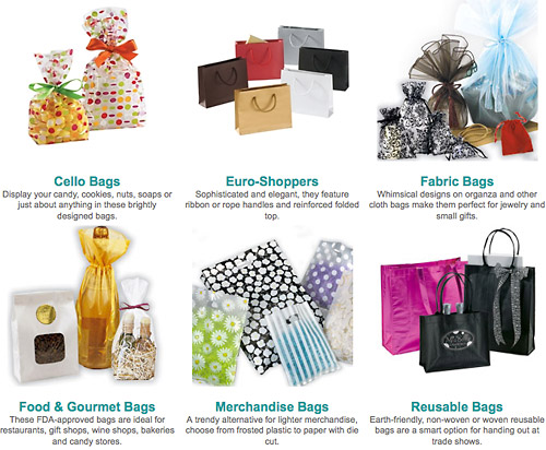 bags bows packaging