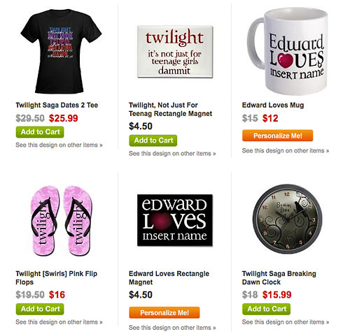 cafepress twilight items