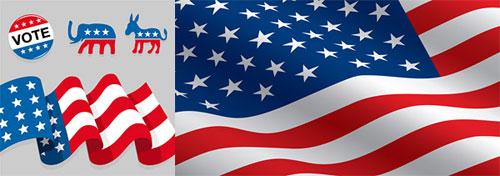 2-American-Flag-Element-Vector