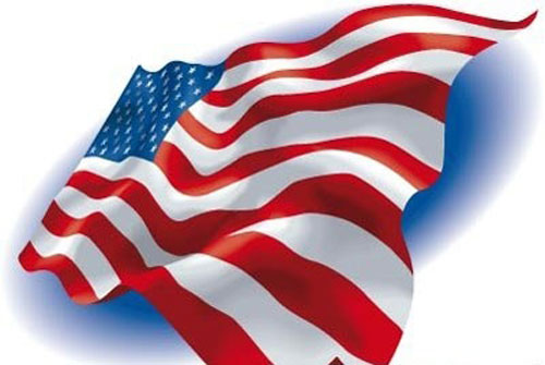 American-Flag-Blue-Background