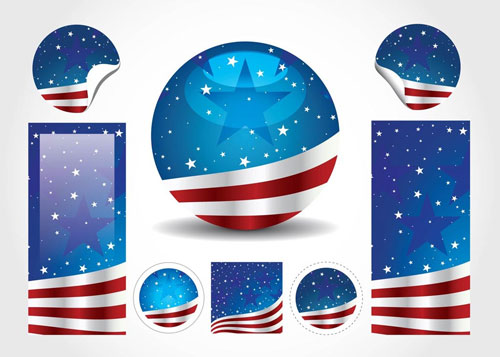 American-Flag-Blue-Vector
