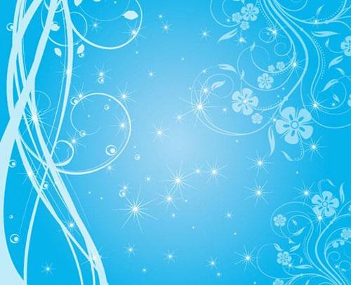 Swirly Blue Stars