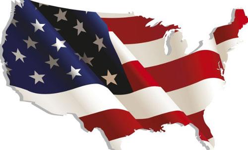 Vintage American Map Flag