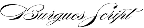 Burgues Script Is A Very Famous Font For Over 100 Years That Inspired Many Penmanship Schools This Beautiful Calligraphic Designed By And