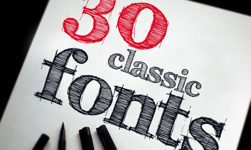 30 classic fonts every designer should have