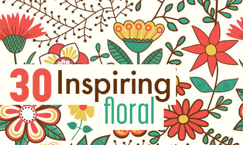 30 inspiring floral illustrations