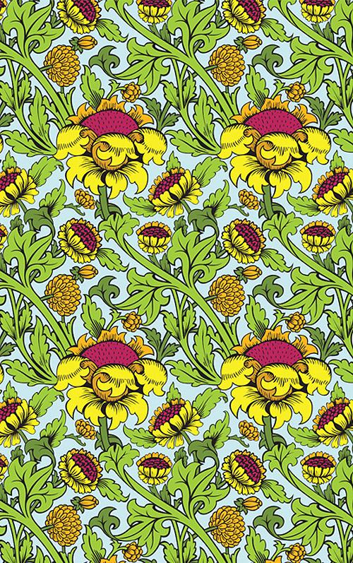 morris floral pattern wey