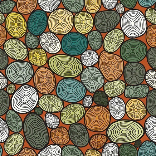 seamless circles hand drawn pattern circles background