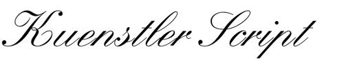 Kuenstler Script Is An Elegant And Beautiful Cursive Font