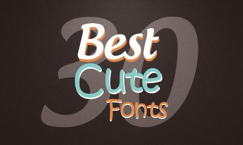 30 best cute fonts