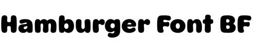 Hamburger Font BF