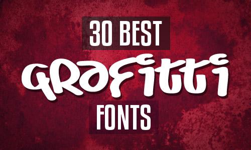 30 best grafitti fonts
