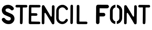 Stencil Font