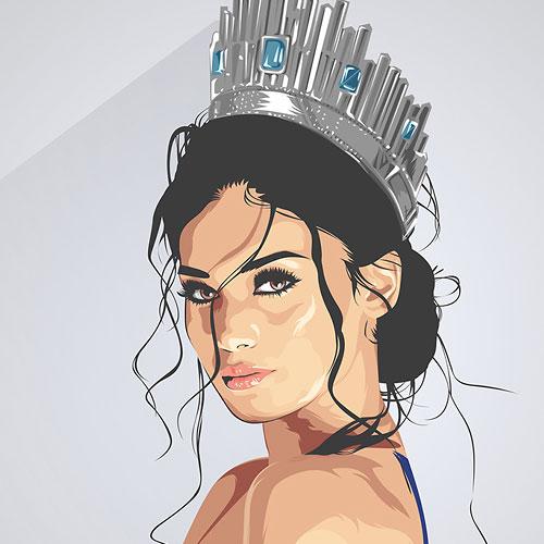 30 Inspiring Beauty Queen Illustrations Illustrator Tutorials Tips