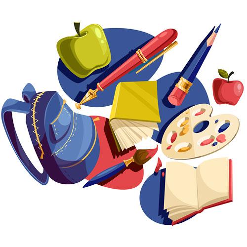 school-stuff-vector