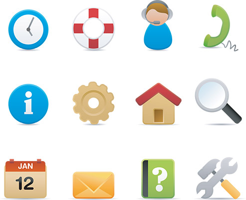 Customer Support Help Icons