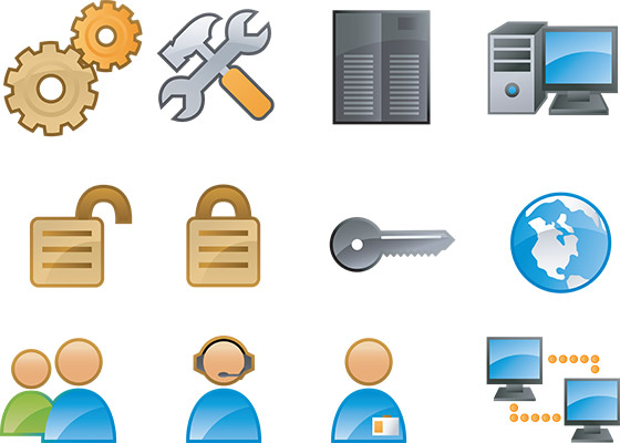 glossy webmaster icons