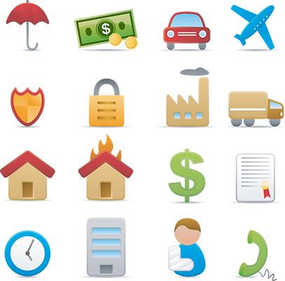matte insurance icons