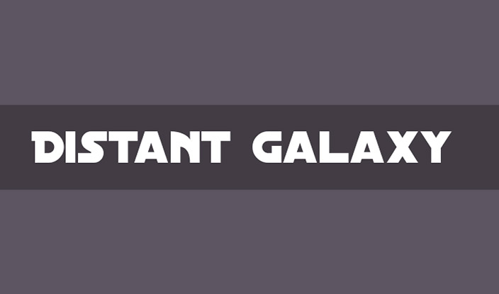 distant galaxy font