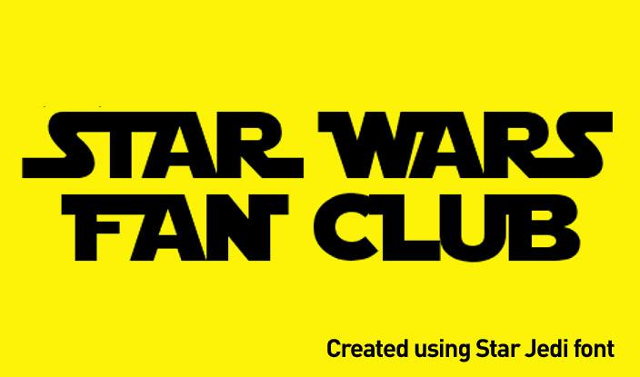star wars font star jedi mockup design