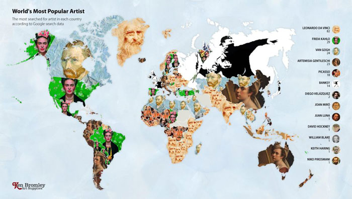 best infographic examples fig 4 worlds most popular artist