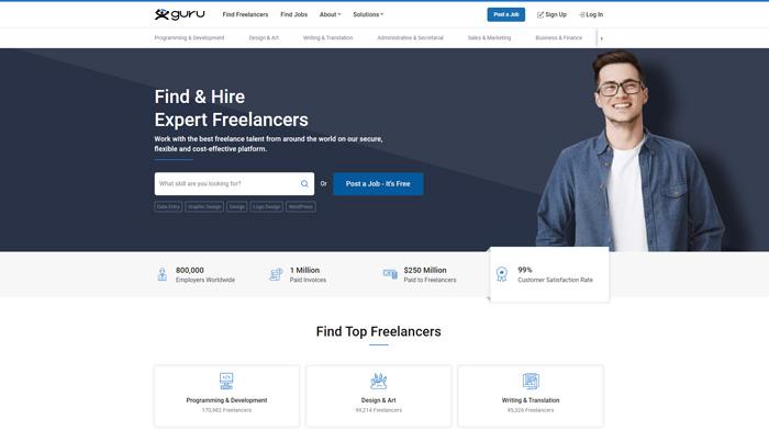 find graphic design jobs online guru