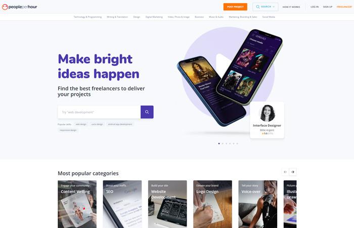 find graphic design jobs online people per hour