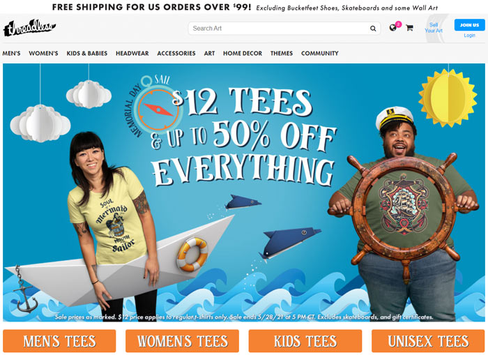 places buy cheap graphic tees threadless