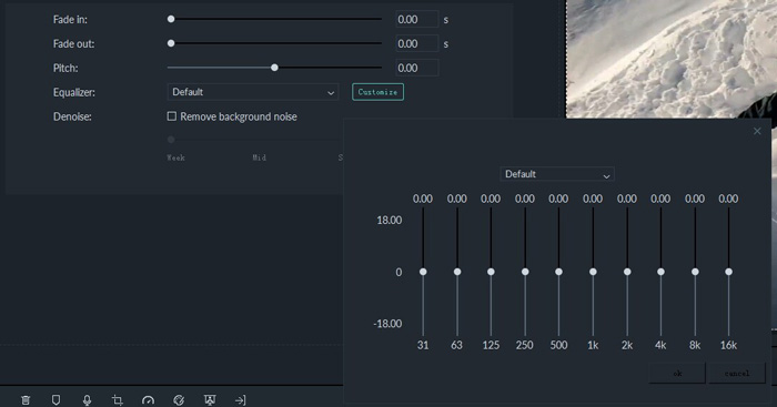 wondershare filmora review great beginners very easy use audio equalizer