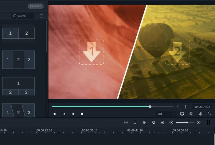 wondershare filmora review great beginners very easy use split screen
