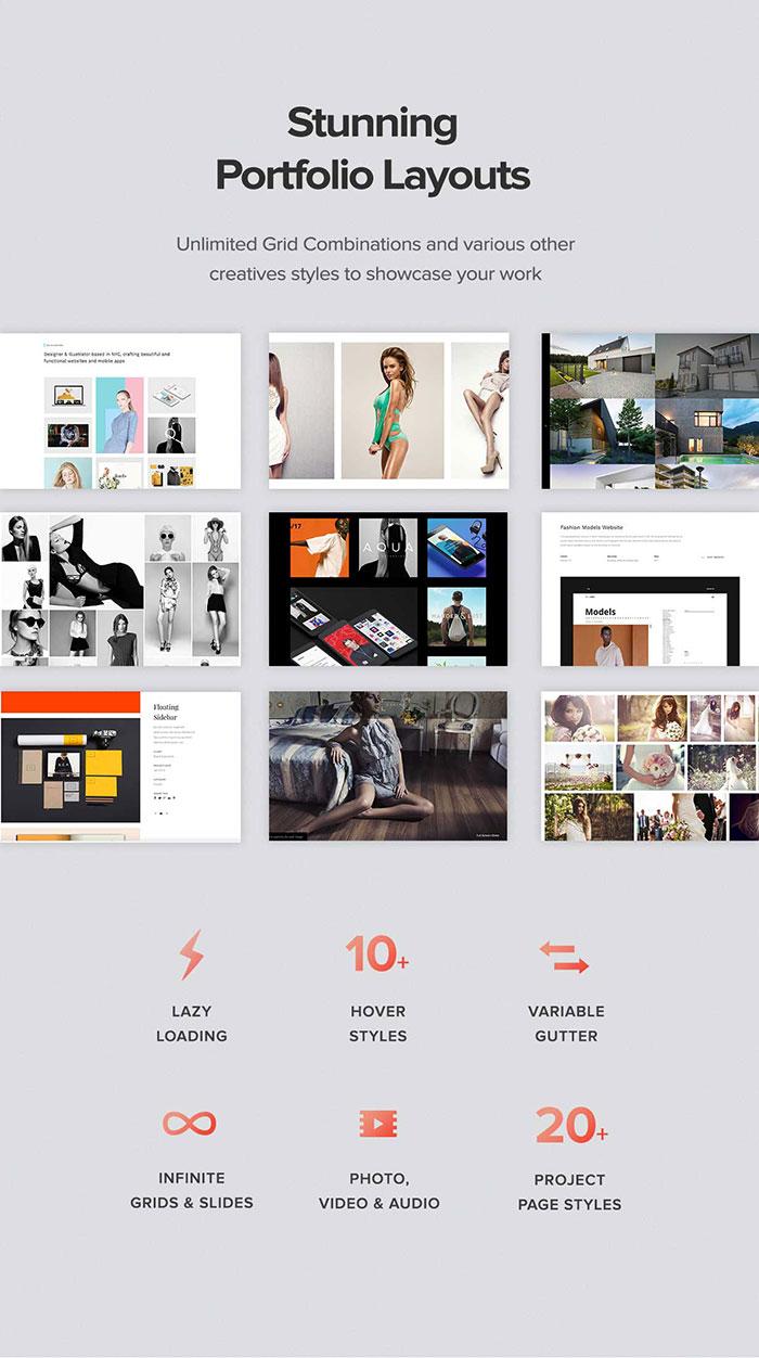 stunning portfolio layout