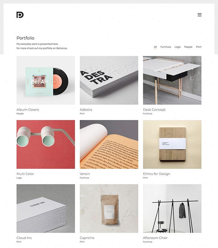 wordpress portfolio kalium theme