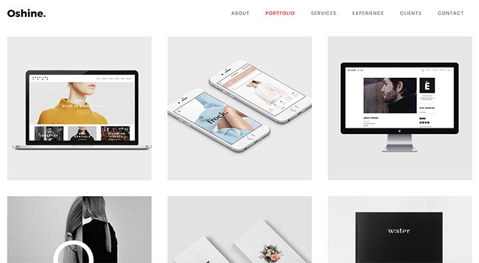 wordpress portfolio oshine theme
