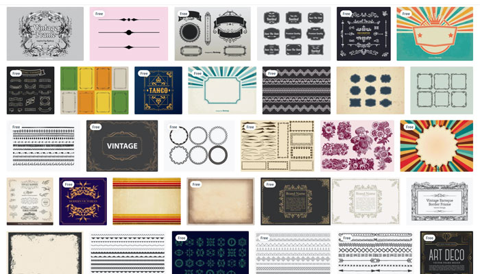 8 border design samples and how to use them retro border