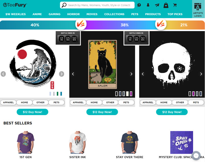places buy cheap graphic tees teefury